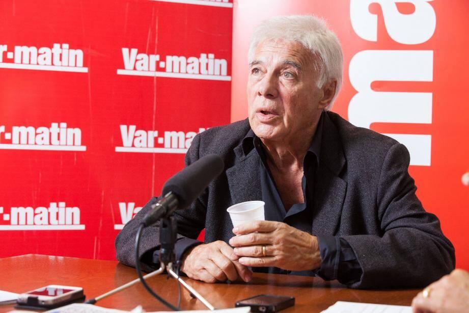 Guy Bedos, le 10 octobre 2012 dans nos locaux toulonnais, lors de l'interview qui fait le buzz aujourd'hui. (Ph D.L.)