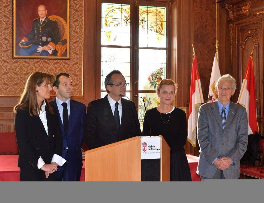 Georges Marsan était entouré de quelques adjoints pour rappeler les grandes réussites de son mandat qui se termine.