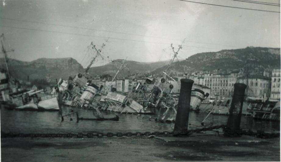 Le 27 novembre 1942, 90 % de la flotte française est coulée par les marins français dans le port de Toulon. Un fait historique qui n'avait jamais fait l'objet d'un film.(Repro DR)