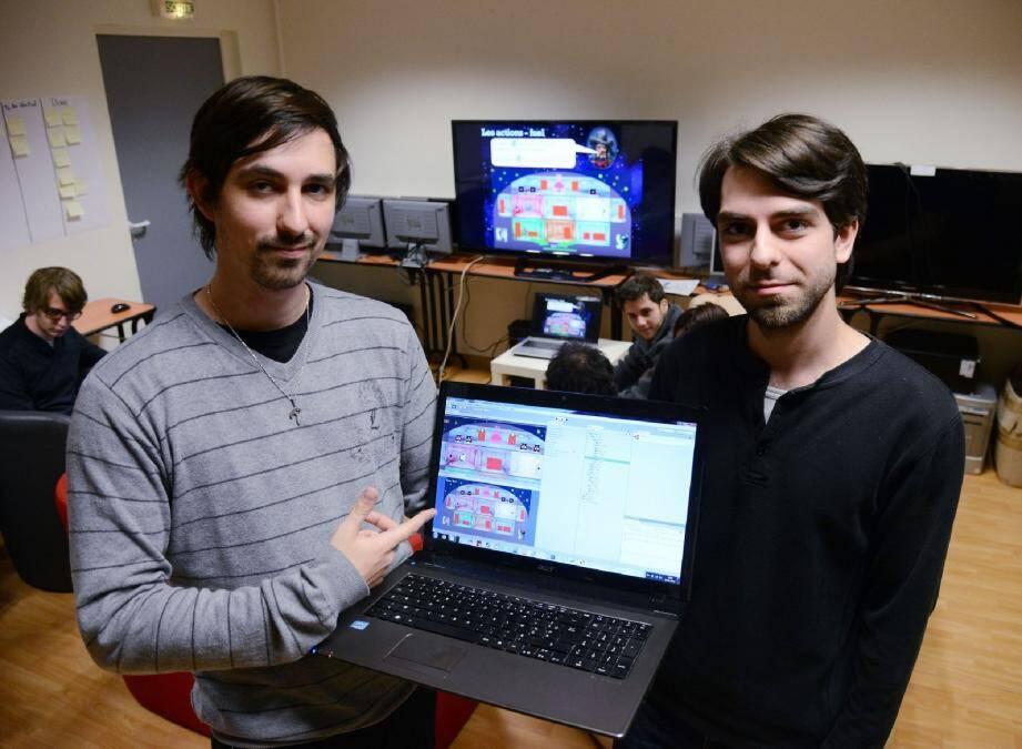 Benjamin Lecomte et Frédéric De Bengy Puyvallée organisent le Global Game Jam pour la première fois à Cannes.