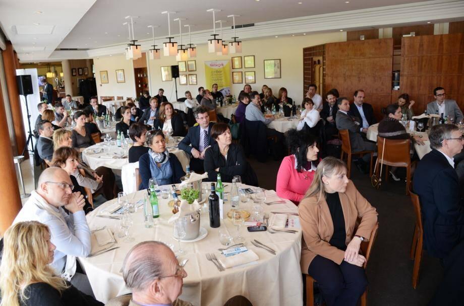 Une cinquantaine de cadres et chefs d'entreprises du pays grassois et de l'ouest du département étaient invités hier à participer à un déjeuner d'affaires orchestré par le président du Club Business 06 Emmanuel Gaulin