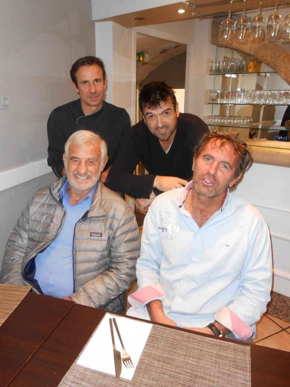 Jean-Paul Belmondo en visite à Grasse