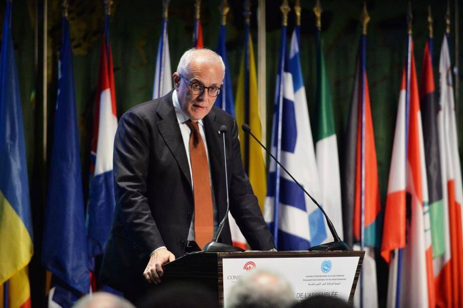 L'italien Francesco Amuroso a tancé la France lors de son discours inaugural.
