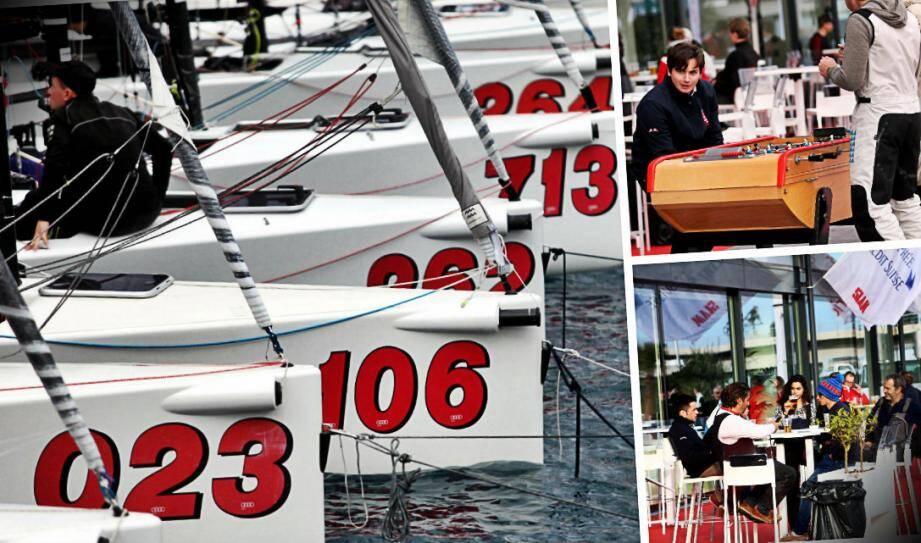 Le quai situé devant le Yacht-club accueille les équipages et leurs accompagnateurs dans une ambiance conviviale et festive.