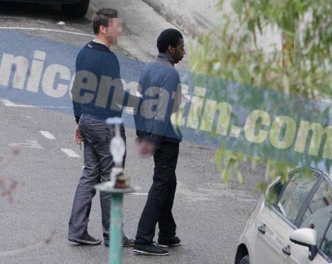 Moussa Coulibaly pendant sa garde à vue à Nice