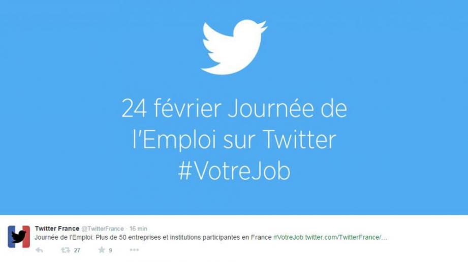 Twitter lance, ce 24 février 2015, sa première journée européenne de l'emploi.