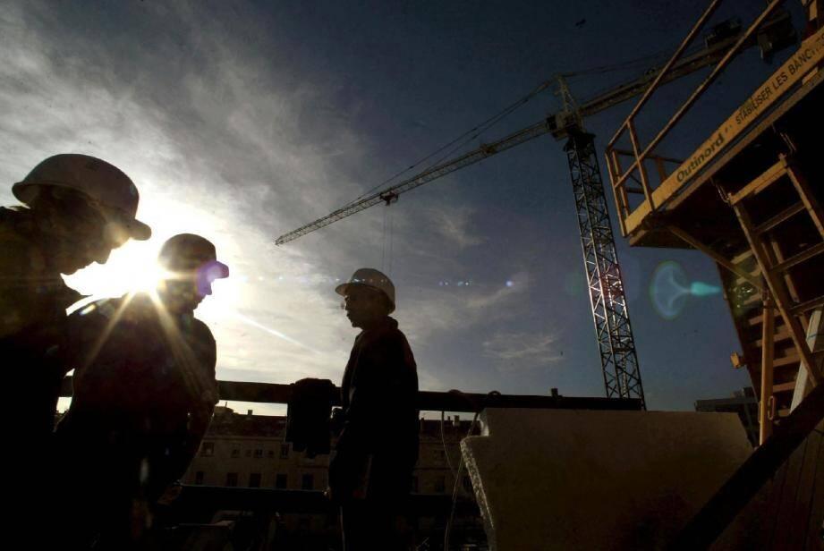 Le secteur de la construction a vu son chiffre d'affaires reculer de 2 % dans les Alpes-Maritimes en 2014.