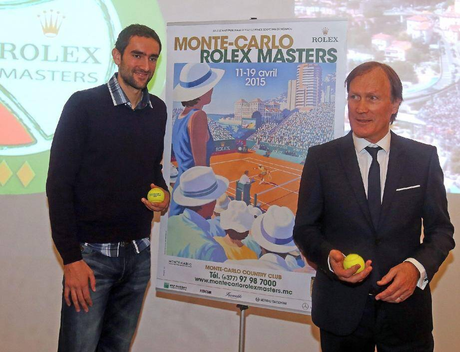 Le joueur Marin Cilic et le directeur du tournoi Zelko Franulovic ont lancé la 109e édition.