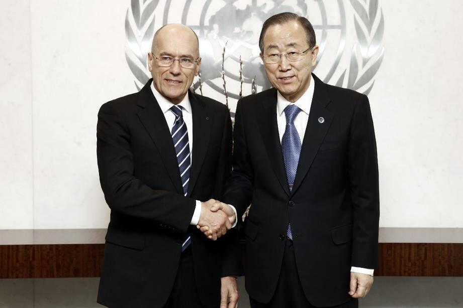 Igor Simcic a été reçu par le secrétaire général des Nations Unies Ban Ki-moon qui a salué le projet.