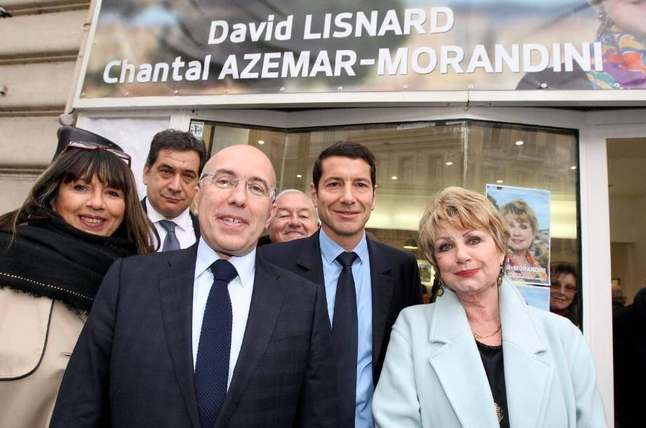 Eric Ciotti, président du conseil général, est venu apporter son soutien à David Lisnard et Chantal Azemar-Morandini.