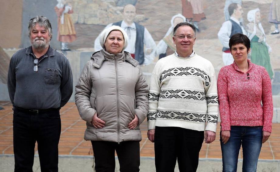 Le quatuor du Front de gauche entend bien representer localement un renouveau citoyen.