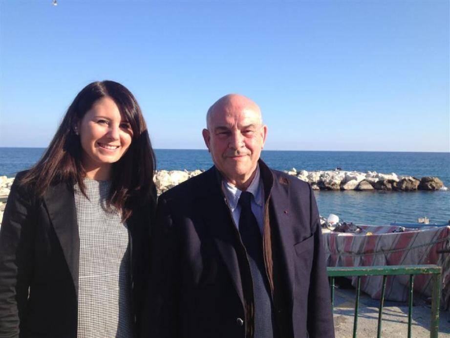 Marine Brenier et Bernard Asso, le binôme UMP pour le canton Nice 2.