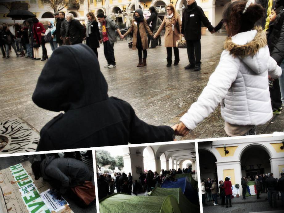 Deux manifestations en soutien aux grévistes de la faim pour les enfants de Gaza se sont téléscopé, dimanche à Nice