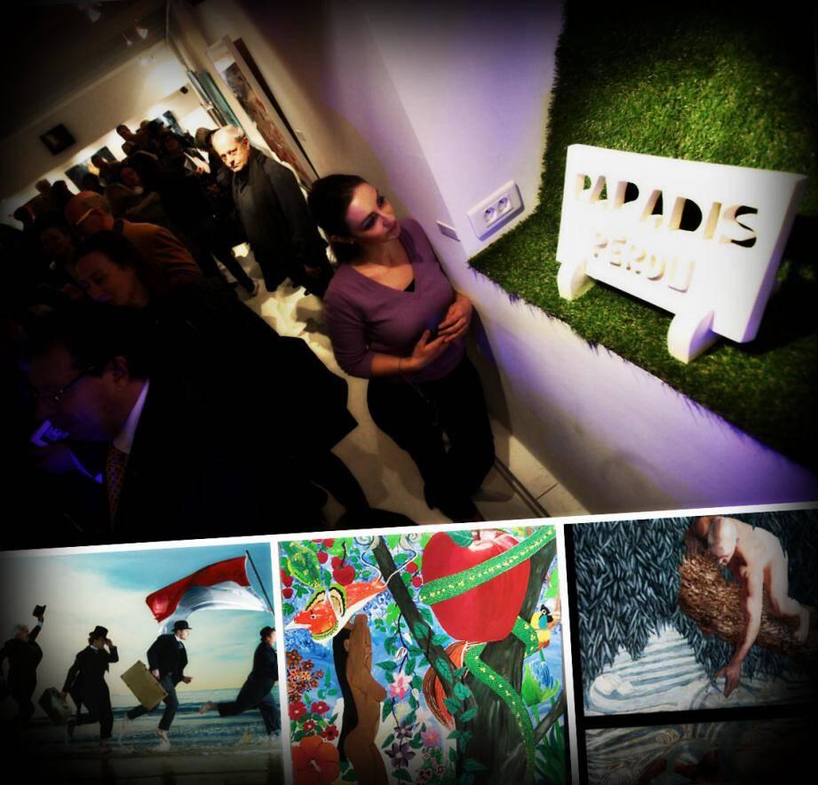 Près de 400 personnes ont assisté au vernissage de l'exposition consacrée aux 32 artistes sélectionnés, à la galerie l'Entrepôt.