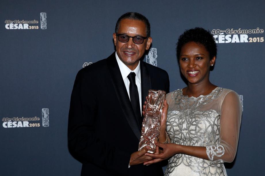 """Le réalisateur Abderrahmane Sissako et la scénariste Kessen Tall récompensé aux César 2015 pour le film """"Timbuktu"""""""