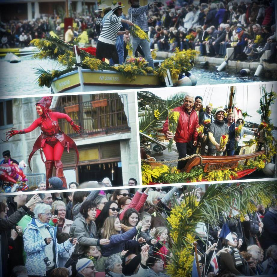 La bataille navale fleurie a attiré la foule à Villefranche
