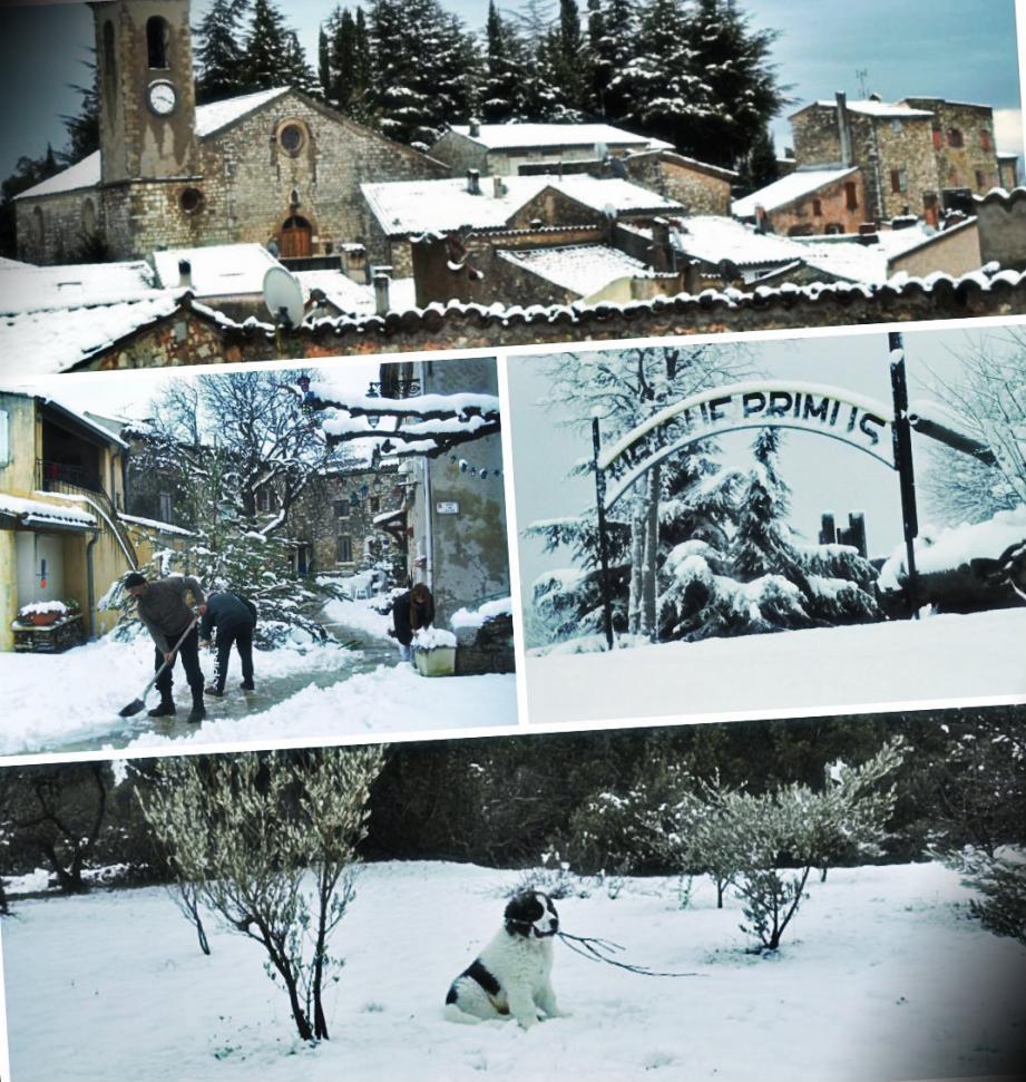 Les chutes de neige attendues n'ont pas eu lieu dans le haut-Var. La fine couche offre de vrais paysages de carte postale