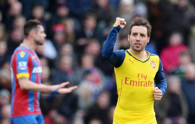 Arsenal, futur adversaire de l'AS Monaco, s'est imposé à Crystal Palace.(PhotoEPA/MaxPPP)