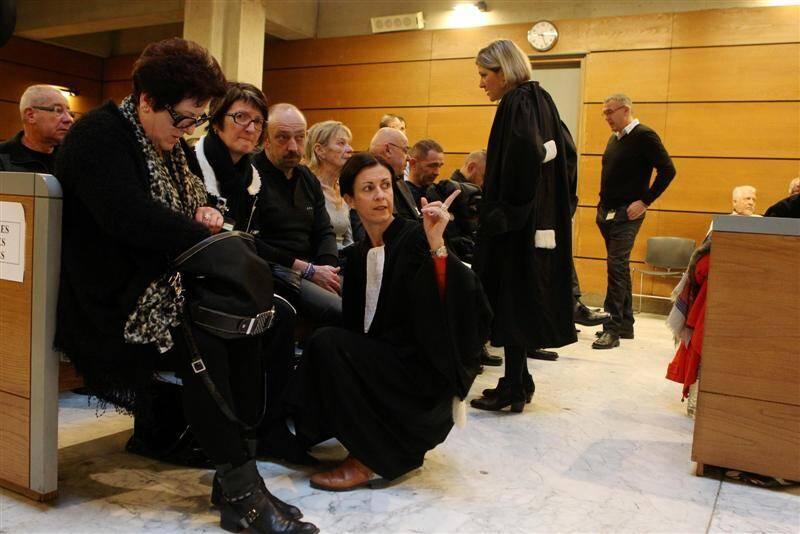 Me Virginie Pin aux côtés de la famille Champlon lors de la reprise du procès ce mercredi.
