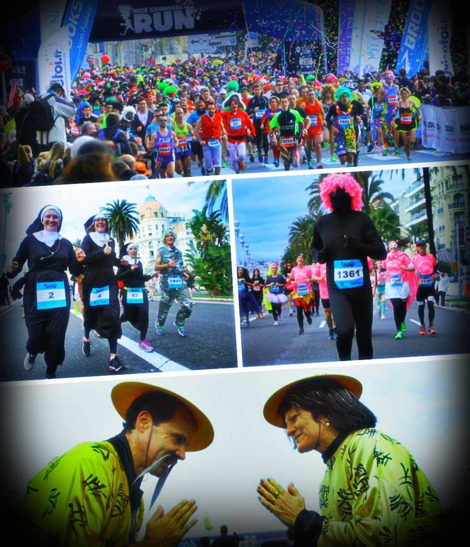 A l'occasion du Carnaval run, les Niçois ont fait preuve d'imagination ce dimanche en sortant leurs déguisements les plus fous !