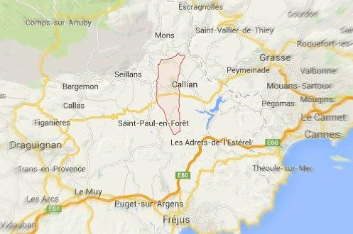 tourrettes var carte localisation 150215