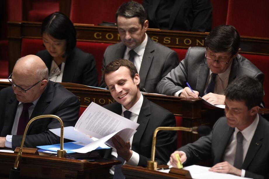 Le ministre de l'Économie, Manuel Macron