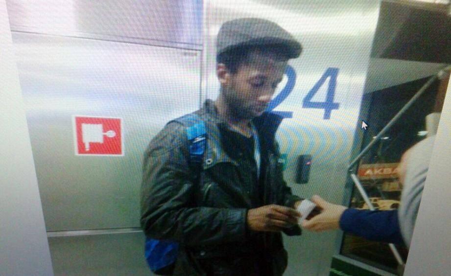 Moussa Coulibaly à l'aéroport d'Istanbul