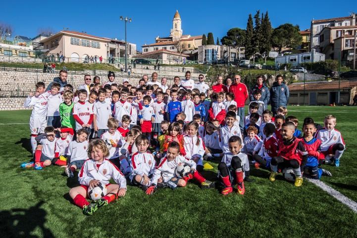Silva, Wallace, Fabinho, Matheus se sont entraînés avec les jeunes de l'école de football de l'AS Monaco