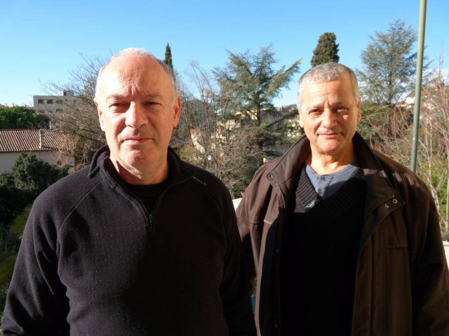Khémissi Makabrou, président (à droite) et Jean-Pierre Souza, vice-président, gardent la même détermination pour faire entendre les droits des usagers et obtenir la mise en œuvre d'un programme cohérent de prévention des inondations.