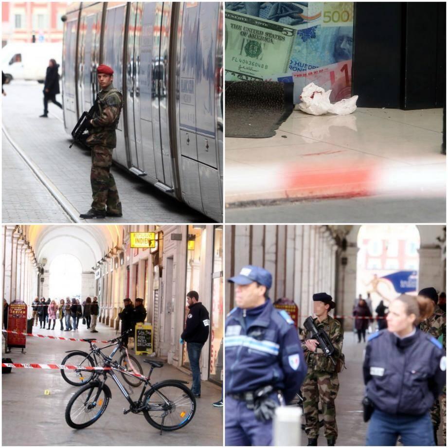 Trois militaires blessés à l'arme blanche dans le centre-ville de Nice