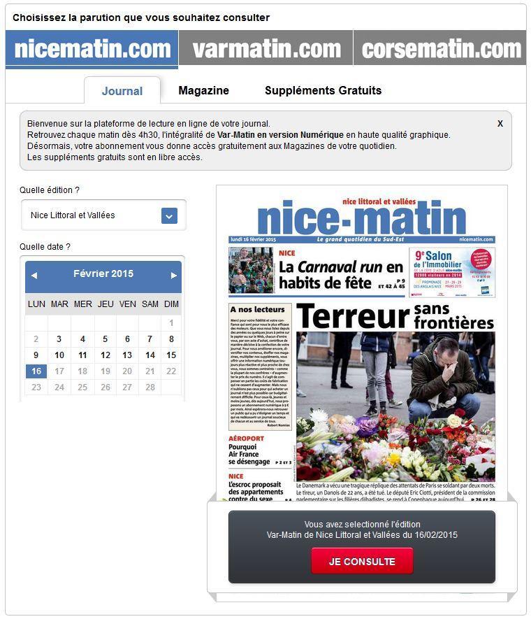 Journal en Ligne Nice-Matin