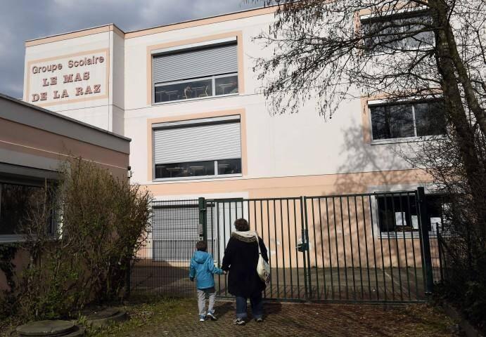 L'école, à Villefontaine (Isère), où les viols présumés de deux fillettes ont eu lieu.