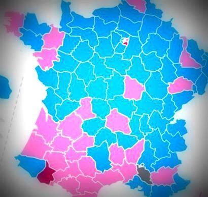 La nouvelle carte politique des départements français
