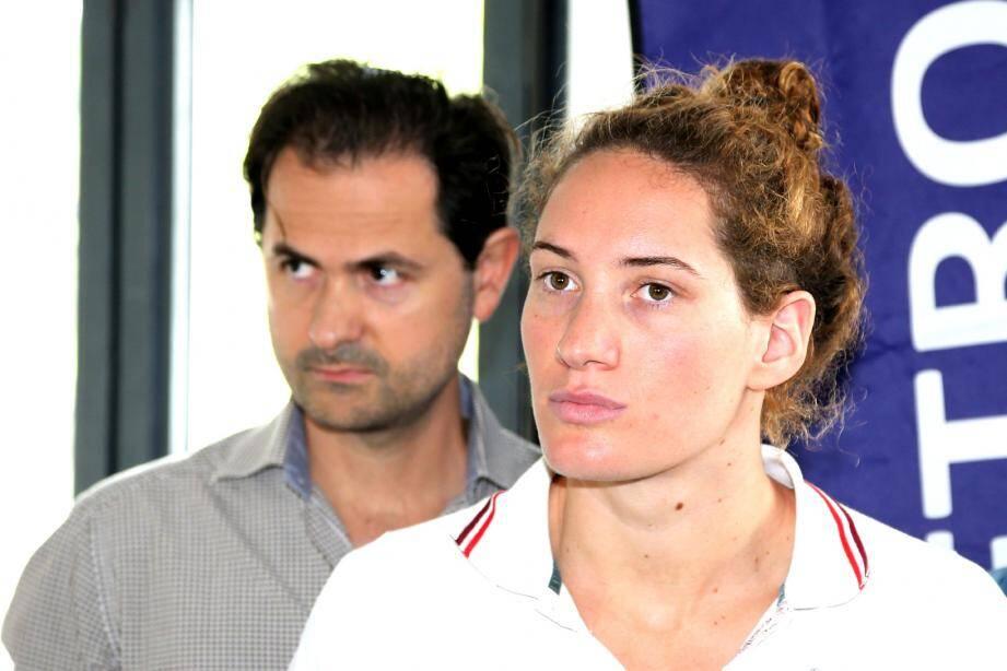 Fabrice Pellerin et Camille Muffat