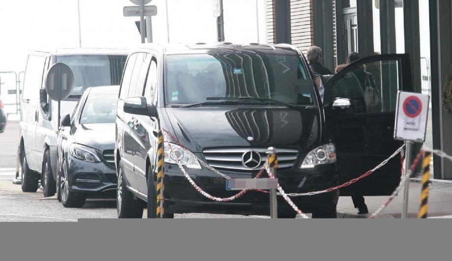 Un VTC à l'aéroport de Nice (photo d'illustration)