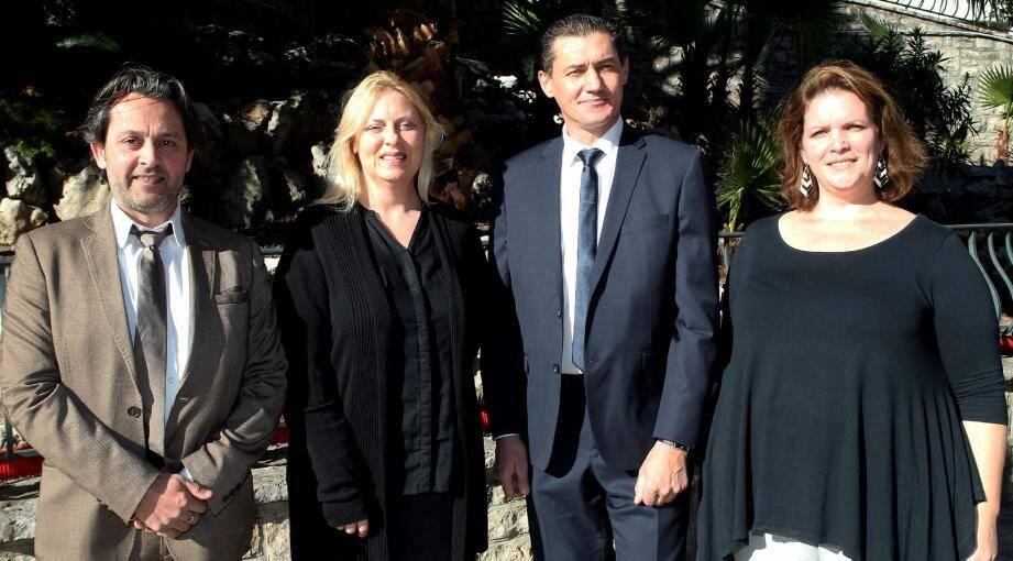De gauche à droite : Thierry Feltref, Nathalie Pavard, Stéphane Rioux et Karine Simpere.