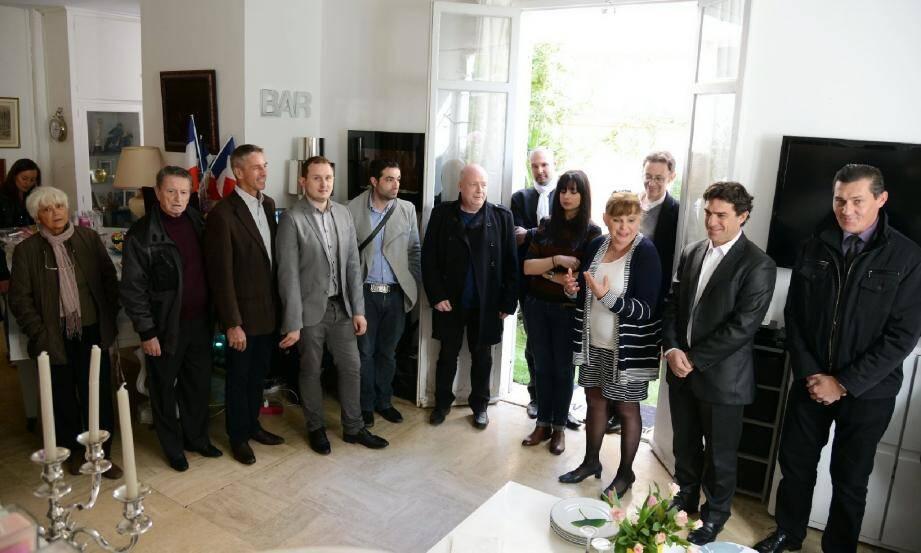 Catherine Dorten a organisé une réunion, hier, dans son salon. Tous les candidats FN des autres cantons étaient présents, des électeurs aussi.