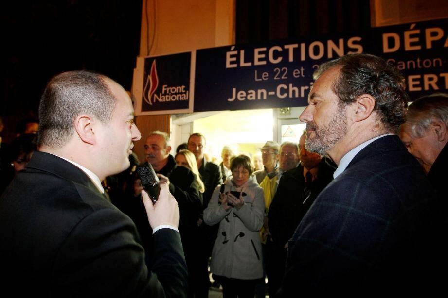 Luc Jousse n'a pas encore poussé la porte du Front national mais il se positionne en soutien aux poulains de David Rachline.