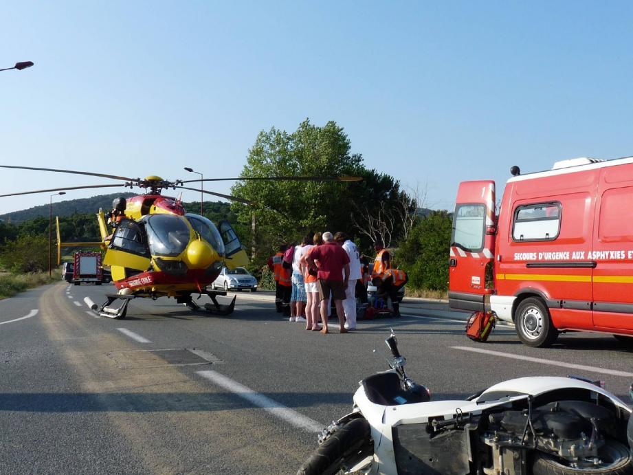 En juillet 2013, une adolescente avait été grièvement blessée sur la route entre Cogolin et Grimaud.