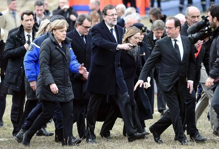 Les chefs d'Etat sur les lieux du crash