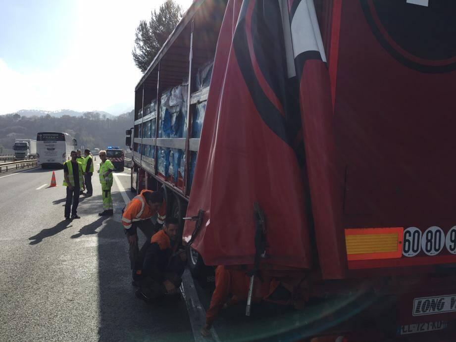 Le camion transportait de l'eau pétillante !