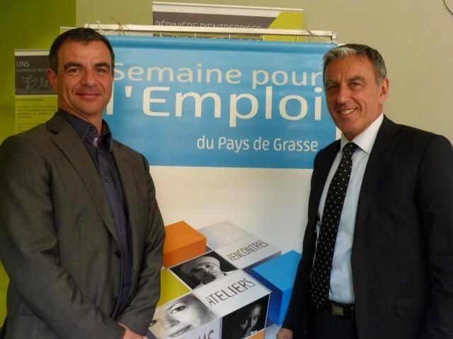 Pour Jean-François Piovesana et Richard Rios, la Semaine pour l'emploi est une chance à saisir de rencontrer des recruteurs.