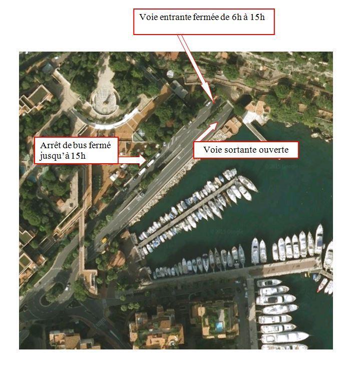 Fermeture du tunnel entrant Rocher Fontvieille ce samedi à Monaco