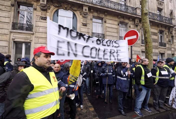 Le 26 mars dernier, les salariés de MoryGlobal avaient manifesté devant le ministère des Transports.
