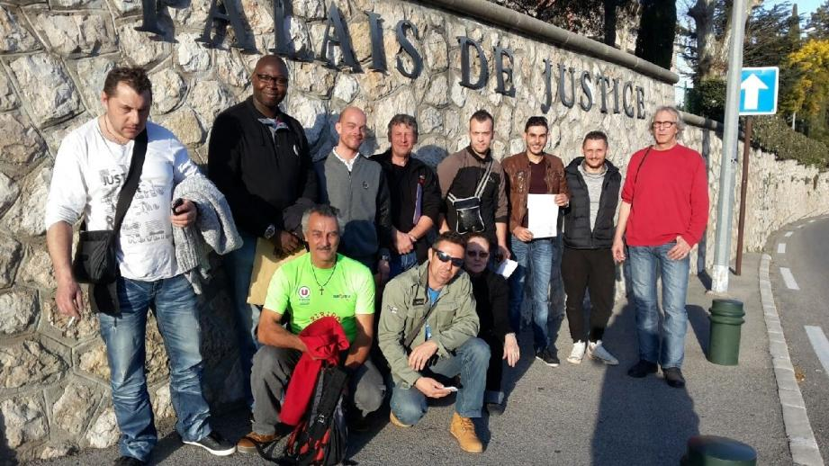 Les salariés de Buonomo s'étaient rendus mardi au tribunal à Grasse pour demander la liquidation de la société.