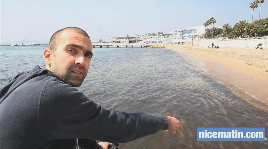 Laurent Lombard, auteur de la vidéo des fonds marins pollués qui fait le buzz cette semaine.