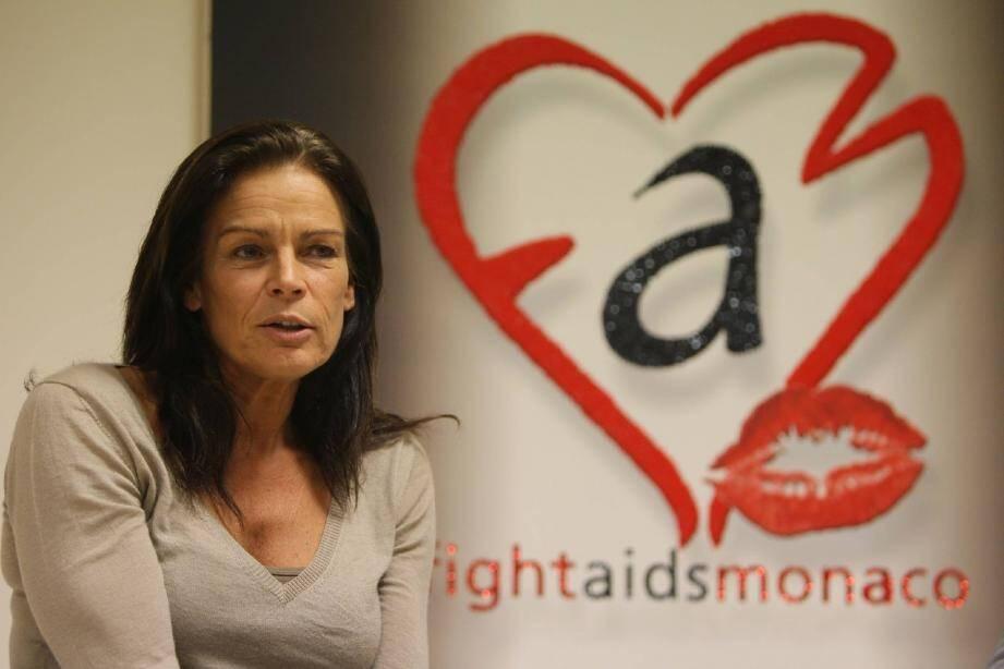 La princesse Stéphanie a choisi, il y a dix ans, avec « Fight Aids » Monaco de lier son image à celle de la lutte contre le sida.