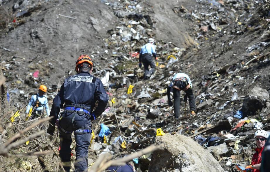 Scène du crash de l'A320