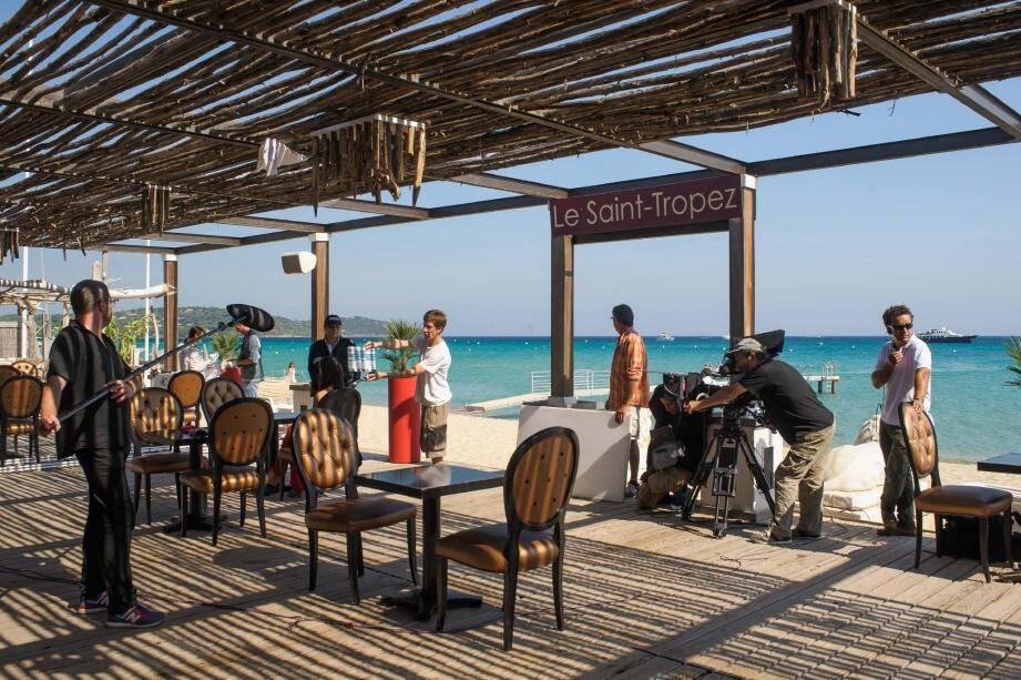 Les derniers tournages de Sous le soleil de Saint-Tropez remontent à l'automne 2013. Plusieurs scènes avaient été mises en boîteàPampelonne. (Photo TMC)