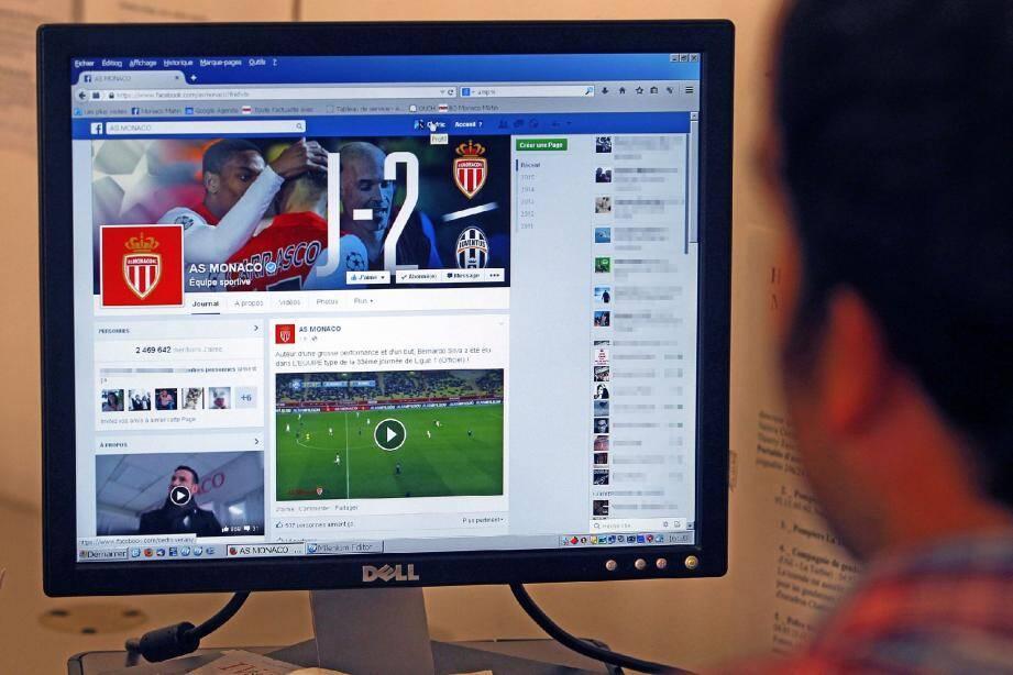 La page de l'AS Monaco sur Facebook est la troisième plus populaire des clubs français, après le PSG et L'OM.